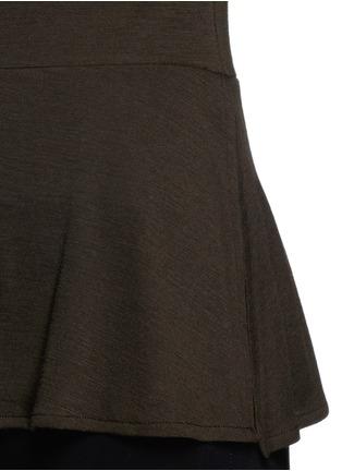 Detail View - Click To Enlarge - Theory - 'Malydie K' Merino wool knit peplum top