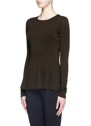 Front View - Click To Enlarge - Theory - 'Malydie K' Merino wool knit peplum top
