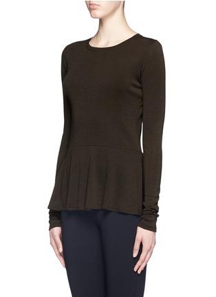 Theory-'Malydie K' Merino wool knit peplum top