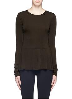 THEORY'Malydie K' Merino wool knit peplum top