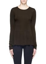 'Malydie K' Merino wool knit peplum top