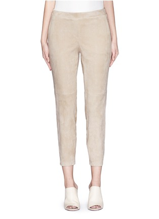 Main View - Click To Enlarge - Theory - 'Thaniel L' lambskin suede pants
