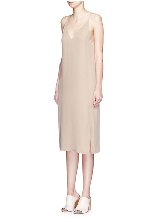 Front View - Click To Enlarge - Theory - 'Kyun' silk georgette camisole dress