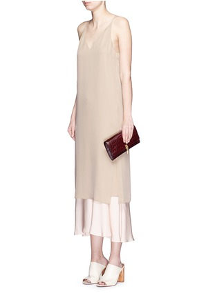 Figure View - Click To Enlarge - Theory - 'Kyun' silk georgette camisole dress