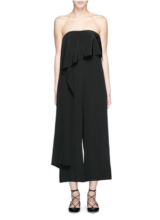 Main View - Click To Enlarge - Tibi - Cascade drape overlay silk strapless jumpsuit