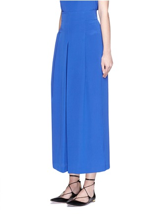 Front View - Click To Enlarge - Tibi - Inverted pleat cropped silk culottes