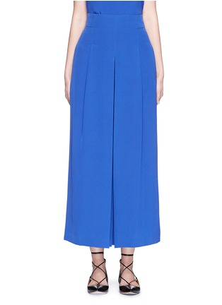 Main View - Click To Enlarge - Tibi - Inverted pleat cropped silk culottes