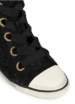 Detail View - Click To Enlarge - Ash - 'Glen' lace wedge sneakers