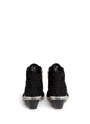Back View - Click To Enlarge - Ash - 'Glen' lace wedge sneakers