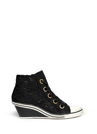 Main View - Click To Enlarge - Ash - 'Glen' lace wedge sneakers