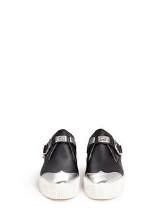 ASH'Kansas' flatform leather monk strap shoes