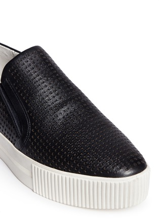 Detail View - Click To Enlarge - Ash - 'Kurt' perforation leather skate slip-ons