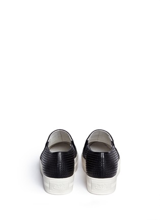 Back View - Click To Enlarge - Ash - 'Kurt' perforation leather skate slip-ons