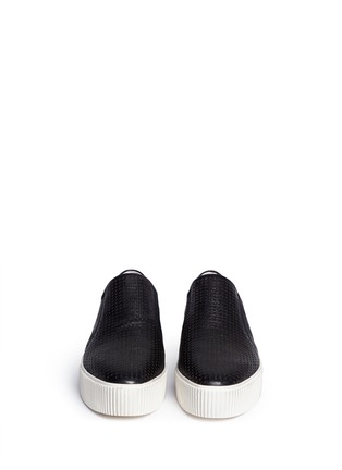 Figure View - Click To Enlarge - Ash - 'Kurt' perforation leather skate slip-ons