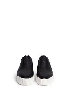 ASH'Kurt' perforation leather skate slip-ons