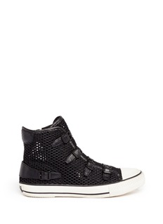 ASH'Vanessa' leather strap mesh sneakers
