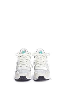 ASH'Dean' glitter suede wedge sneakers