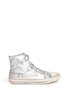 ASH'Virgin' metallic leather high top sneakers