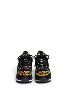 ASH'Drug' floral print leather wedge sneakers