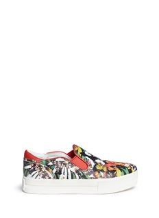 ASH'Jungle' floral print leather skate slip-ons