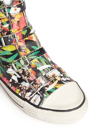 Detail View - Click To Enlarge - Ash - 'Virgin' floral print leather high top sneakers