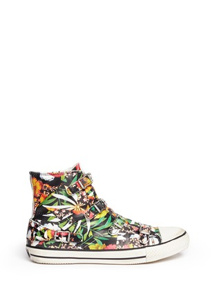 Main View - Click To Enlarge - Ash - 'Virgin' floral print leather high top sneakers