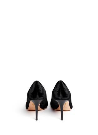 背面 - 点击放大 - CHARLOTTE OLYMPIA - 丝绒猫脸高跟鞋