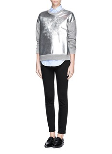 EACH X OTHERPoem embossed metallic leather front sweatshirt
