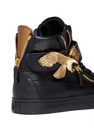 Detail View - Click To Enlarge - Giuseppe Zanotti Design - 'London' eagle leather sneakers