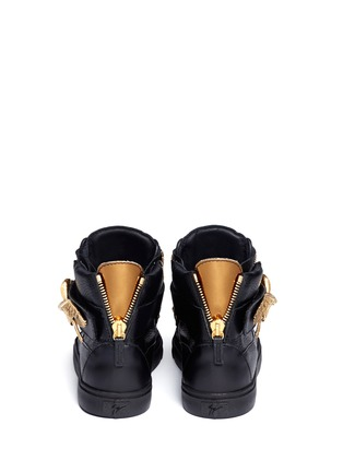 Back View - Click To Enlarge - Giuseppe Zanotti Design - 'London' eagle leather sneakers