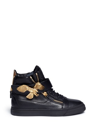 Main View - Click To Enlarge - Giuseppe Zanotti Design - 'London' eagle leather sneakers