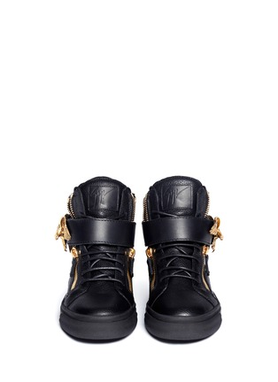 Figure View - Click To Enlarge - Giuseppe Zanotti Design - 'London' eagle leather sneakers