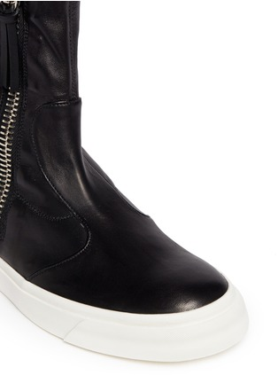 Detail View - Click To Enlarge - Giuseppe Zanotti Design - Side zip high-top boots