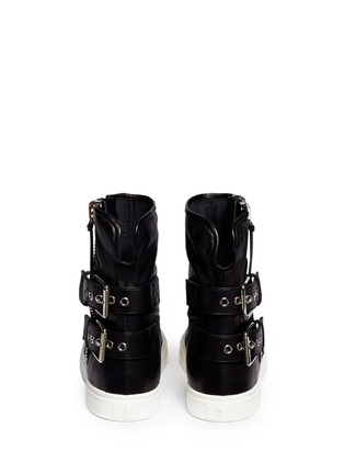 Back View - Click To Enlarge - Giuseppe Zanotti Design - Side zip high-top boots