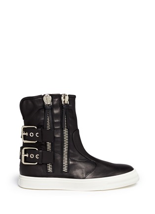 Main View - Click To Enlarge - Giuseppe Zanotti Design - Side zip high-top boots