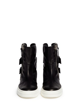 Figure View - Click To Enlarge - Giuseppe Zanotti Design - Side zip high-top boots