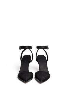 ALEXANDER WANG 'Lovisa' stingray-embossed ankle strap pumps