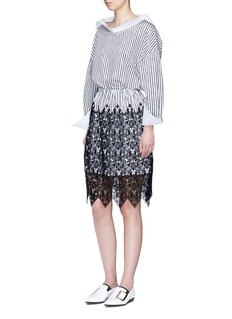 DaweiSailor collar stripe cotton top