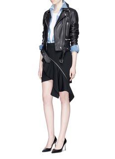 Saint LaurentDetachable asymmetric ruffle skirt