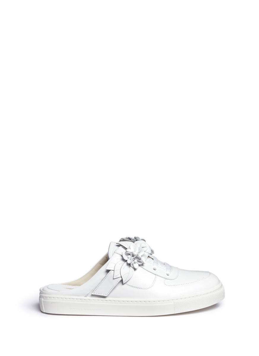 Lilico Jessie floral appliqué leather mule sneakers by Sophia Webster