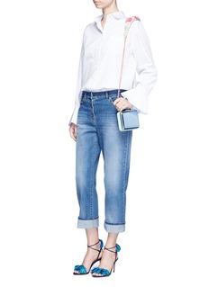 Sophia Webster'Vivi' floral paillette strap mirror leather clutch