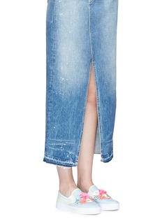 Sophia Webster'Lilico Sequin Adele' floral paillette leather slip-ons