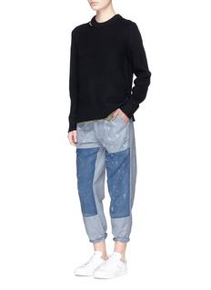 Denham'Bonnie' patchwork linen-cotton pants