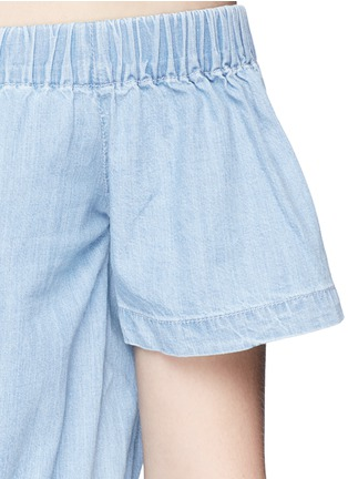 Detail View - Click To Enlarge - 3x1 - 'Clark' chambray off-shoulder rompers