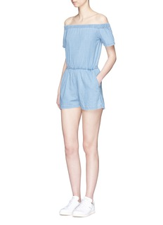 3x1 'Clark' chambray off-shoulder rompers