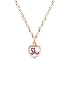 Loquet London 14k rose gold rock crystal heart locket – Small 12mm