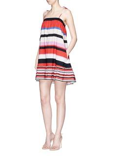 Nicholas'Amalfi stripe' off-shoulder cotton dress