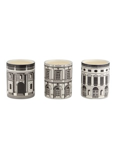 Fornasetti Architecttura candle gift set 300g