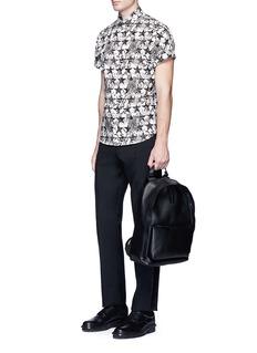 Ports 1961Star floral print short sleeve poplin shirt