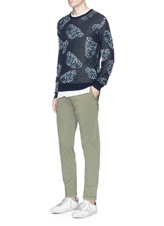 Scotch & Soda Leaf jacquard sweater